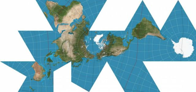 Radically Different and Less distorted re-imagined World Map