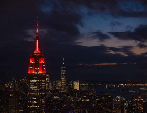 The Empire State Building Illuminated for Mars Perseverance