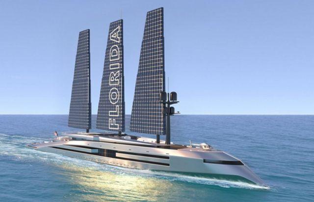 160 Meter Florida Sailing Yacht concept