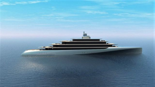 Pebble 459-foot superyacht concept
