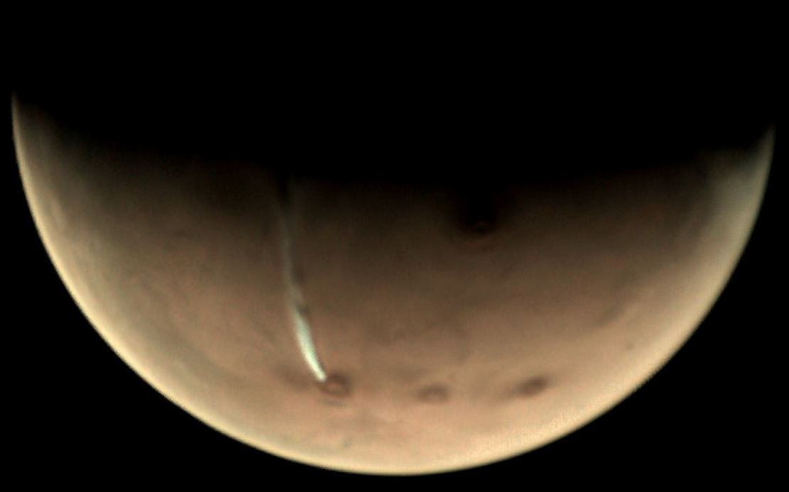 The secrets of curious cloud on Mars (3)