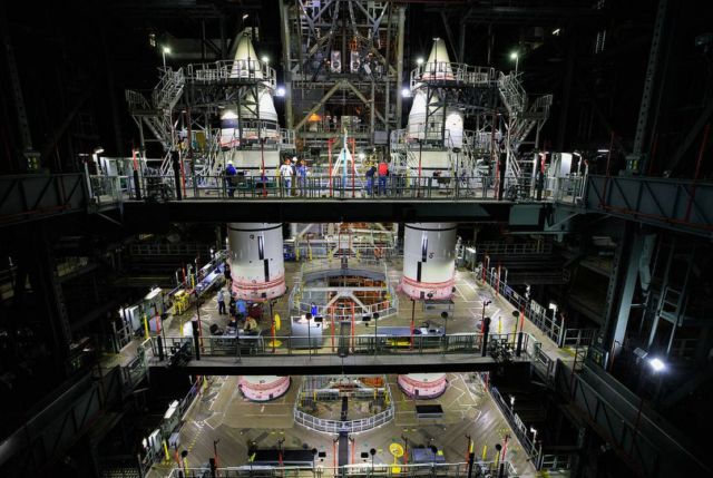 Twin Space Launch System Rocket Boosters