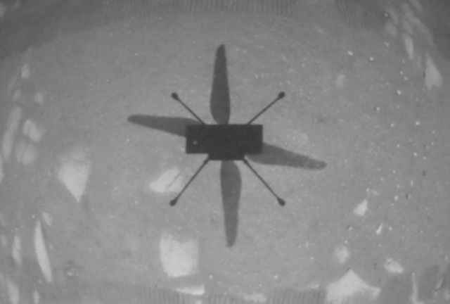 A historic flight on the Red Planet