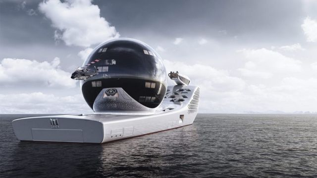 Earth 300- 984-foot-long Nuclear-Powered exploration vessel (6)