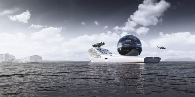 Earth 300- 984-foot-long Nuclear-Powered exploration vessel (5)