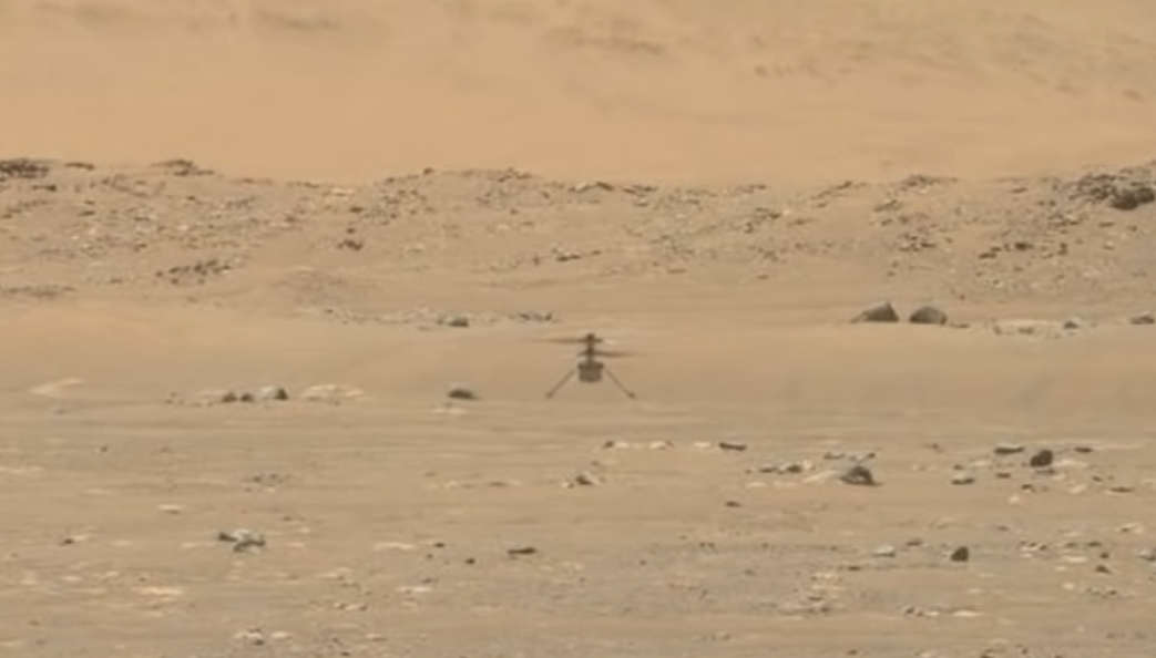 First Video of Ingenuity Mars Helicopter in Flight