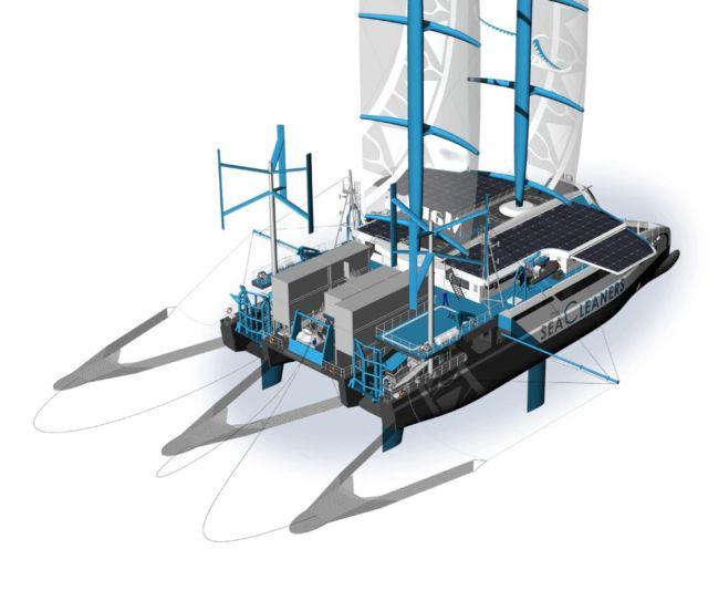 Manta giant Plastic-Eating Catamaran (3)