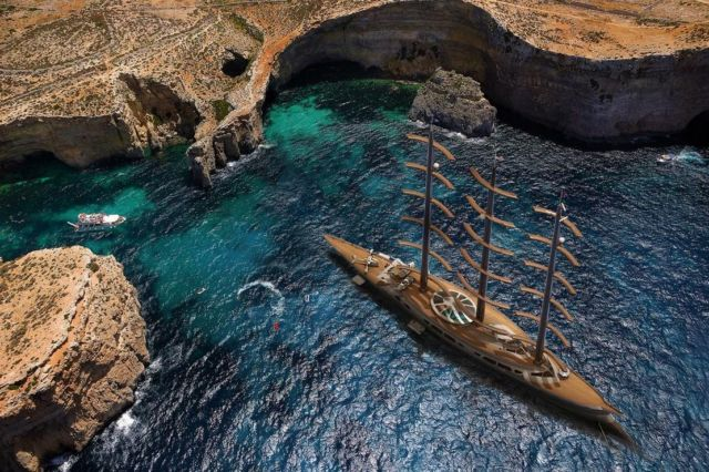 Narvalo 134 meter Polar Class sailing yacht (5)