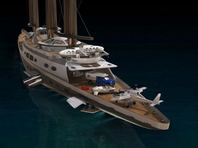 Narvalo 134 meter Polar Class sailing yacht (4)
