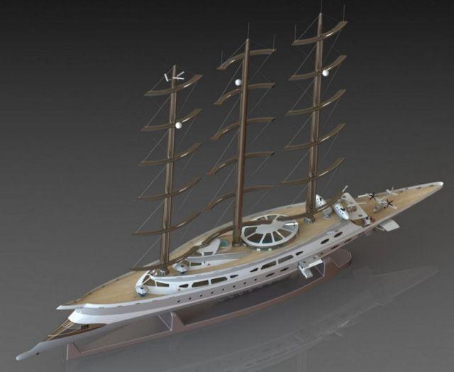 Narvalo 134 meter Polar Class sailing yacht (3)