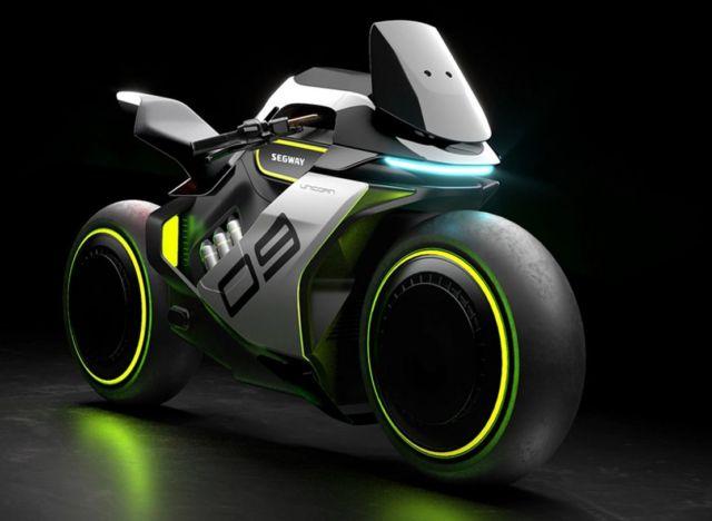 Segway Apex H2 Hydrogen-Electric hybrid motorcycle