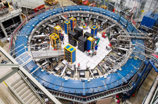 50-foot-diameter superconducting magnetic storage ring