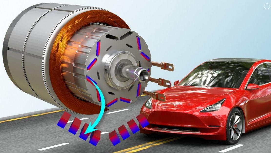 The brilliant Tesla Model 3's Motor