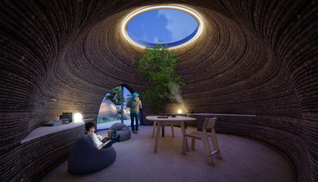 World's first 3D Printed House in Raw Earth
