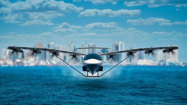 All-Electric Seaglider Flying Hovercraft (4)