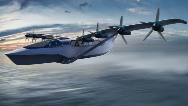All-Electric Seaglider Flying Hovercraft (3)