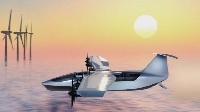 All-Electric Seaglider Flying Hovercraft (2)