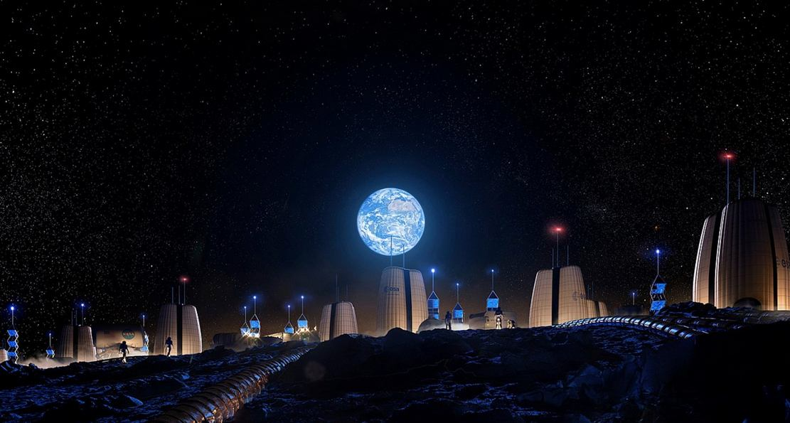 Permanent Village on the Moon by SOM (1)