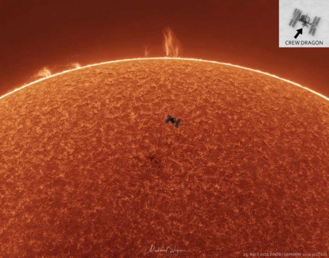 Space Station, Solar Prominences, Sun