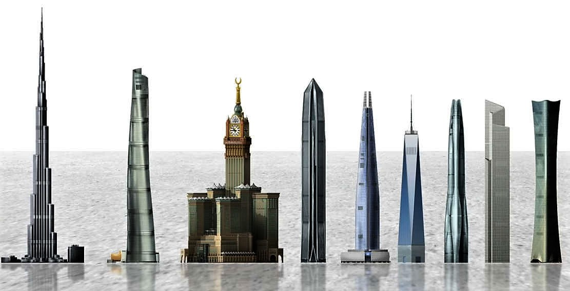 The True Scale of the world's Tallest Buildings