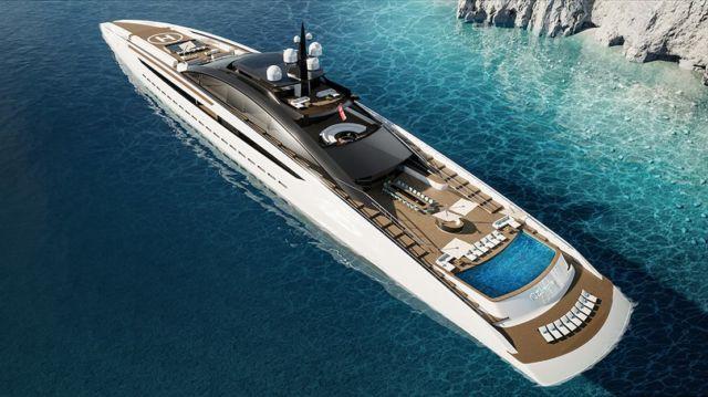 Sunrise 443-Foot Gigayacht concept