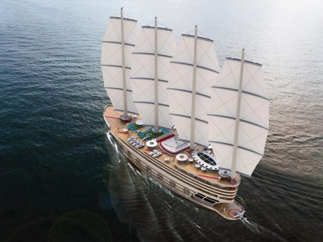 The Galleon 525-foot Sailing Gigayacht (9)