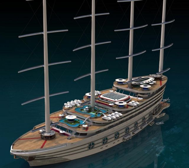 The Galleon 525-foot Sailing Gigayacht (7)