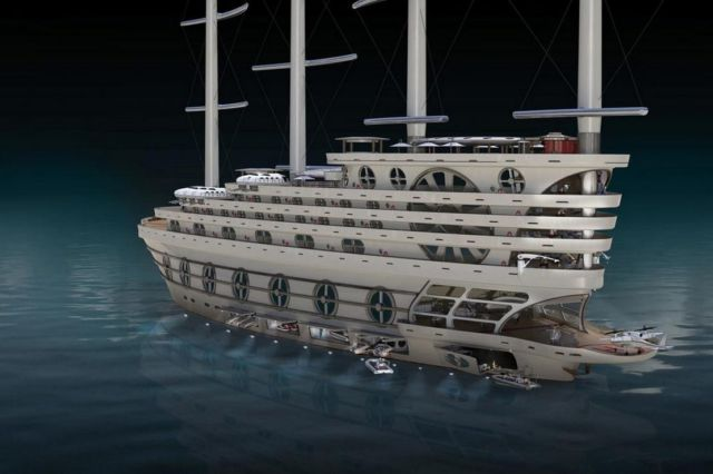 The Galleon 525-foot Sailing Gigayacht (6)