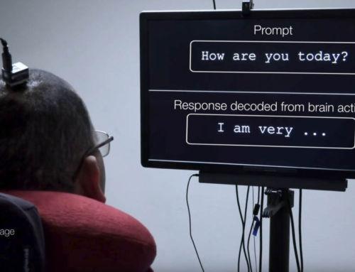 Neuroprosthesis- restores words to man with Paralysis