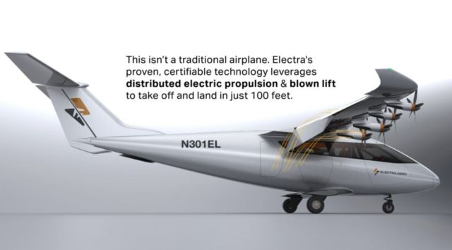 Electra on ultra-short takeoff aircraft
