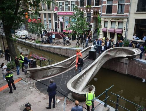 World's first 3D printed steel Bridge has been installed