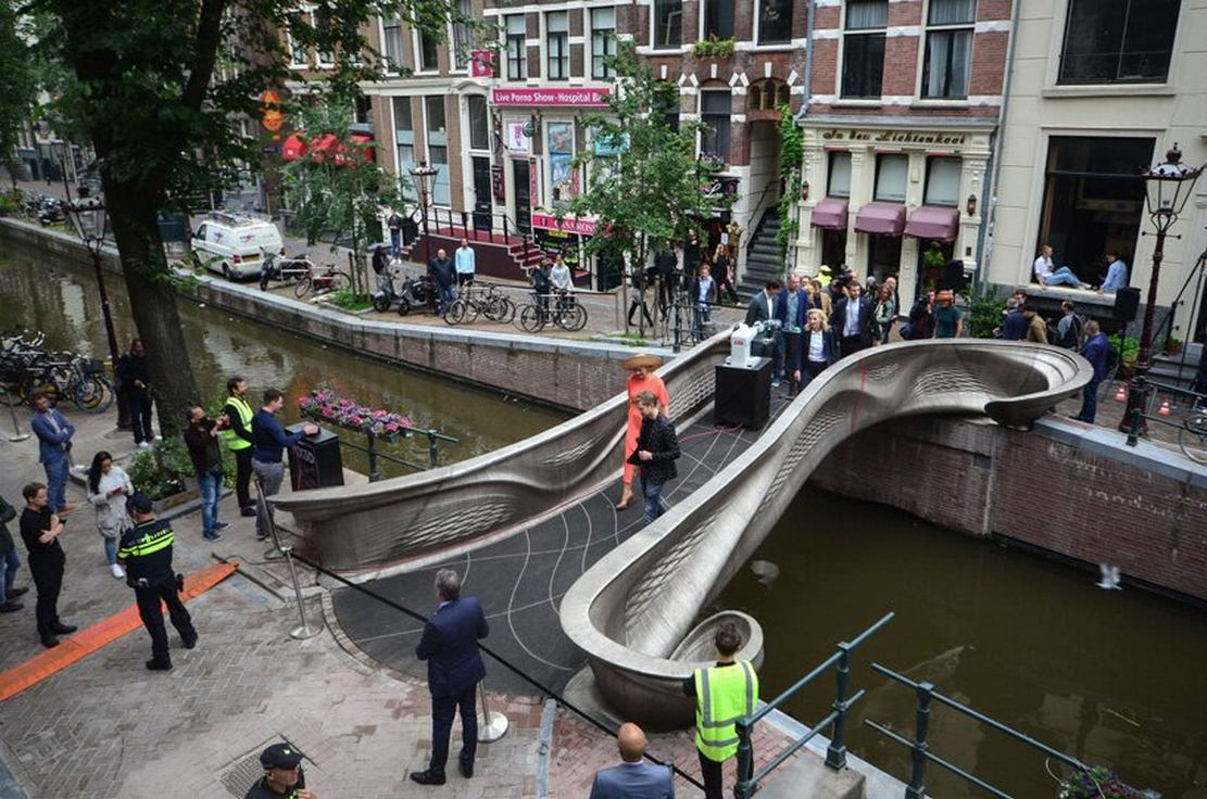World's first 3D printed steel Bridge