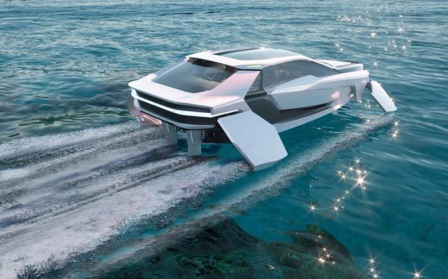 Future-E looks like a car and flies over the waves (7)