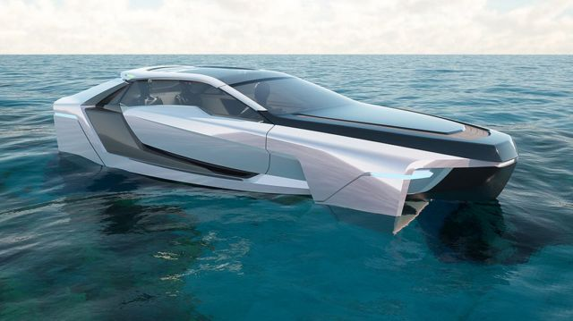 Future-E looks like a car and flies over the waves (5)