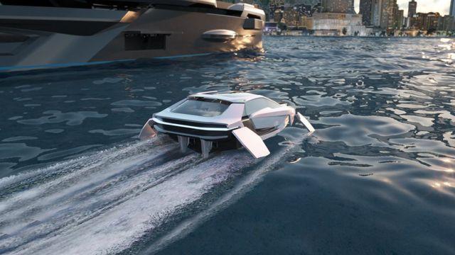 Future-E looks like a car and flies over the waves (4)