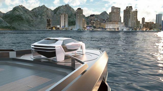 Future-E looks like a car and flies over the waves (3)