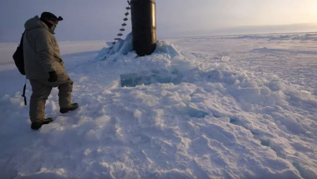How to Surface a Submarine in the Arctic Ocean