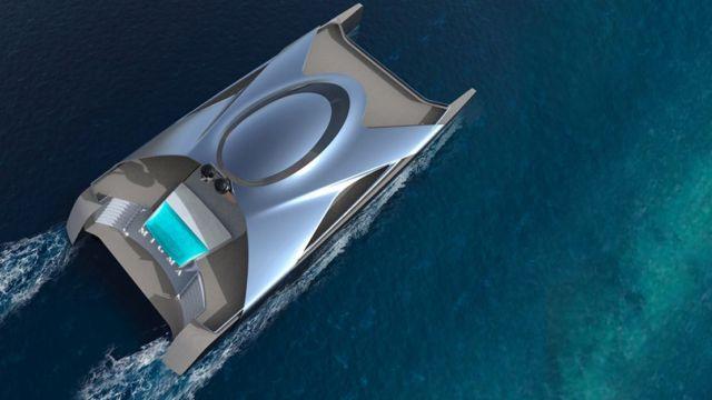 Hydrogen-Powered Catamaran concept