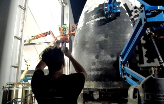 The design of the Heat Shield for the Largest Spacecraft ever built