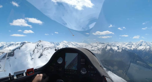 Travel by Glider to the Alps