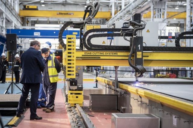 First steel cut for Royal Navy Type 31 programme