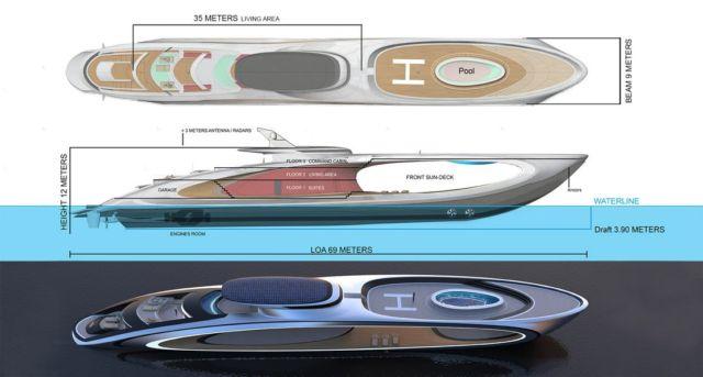 Lazzarini Shape Superyacht Concept (1)