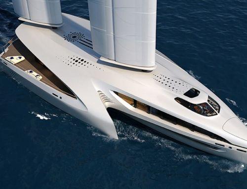 Seaffinity 148-Foot Hybrid Trimaran Concept