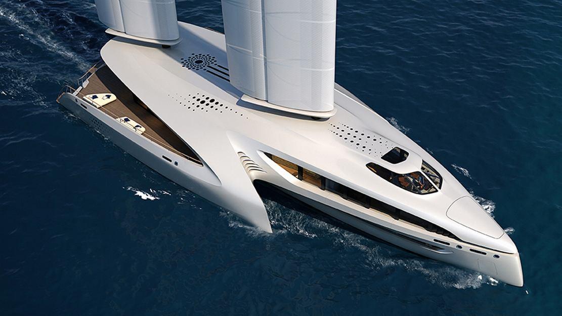Seaffinity 148-Foot Hybrid Trimaran Concept (5)
